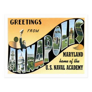 Annapolis Maryland Travel America US City Postcard