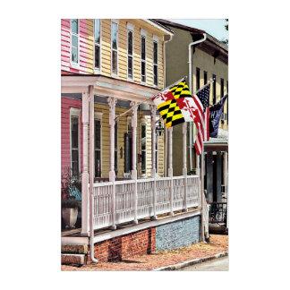 Annapolis MD - Flags Along East Street Acrylic Print