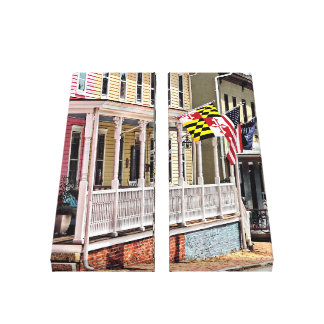 Annapolis MD - Flags Along East Street Canvas Print