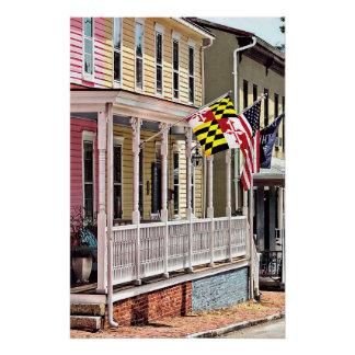 Annapolis MD - Flags Along East Street Poster