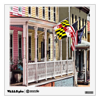 Annapolis MD - Flags Along East Street Wall Sticker