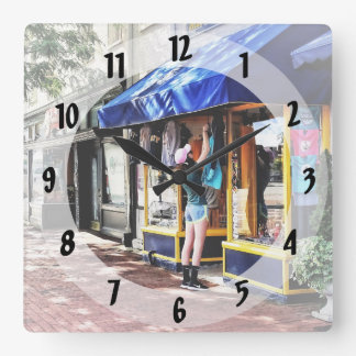 Annapolis MD - Opening For Business Square Wall Clock