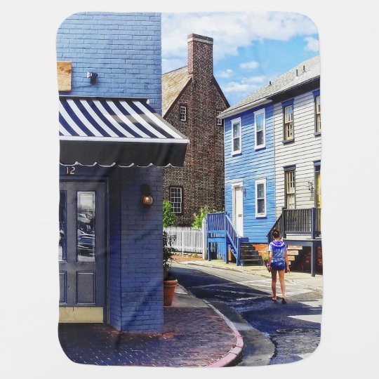Annapolis MD - Strolling Along Pinkney Street Baby Blanket