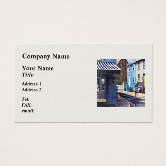 Annapolis MD - Strolling Along Pinkney Street Business Card