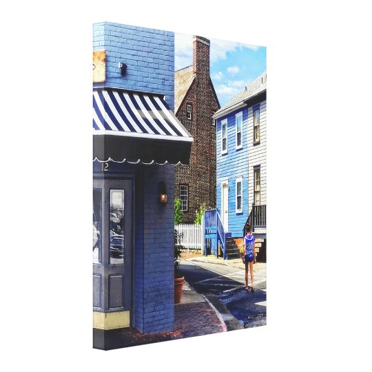 Annapolis MD - Strolling Along Pinkney Street Canvas Print