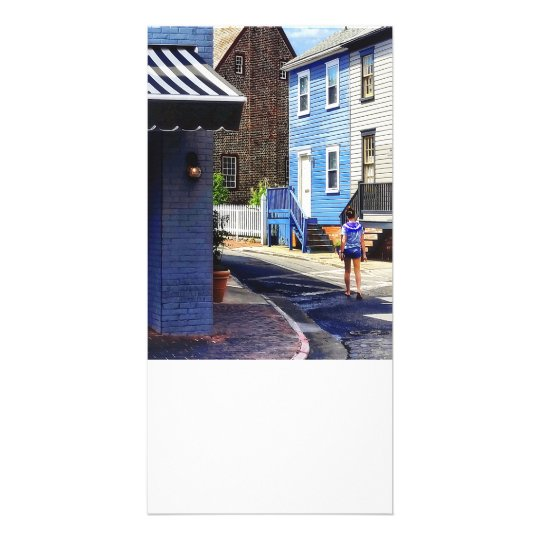 Annapolis MD - Strolling Along Pinkney Street Card