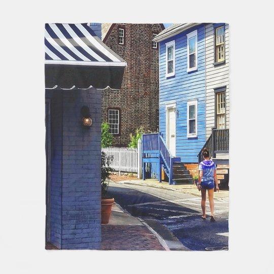 Annapolis MD - Strolling Along Pinkney Street Fleece Blanket