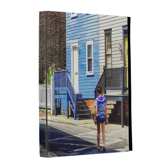 Annapolis MD - Strolling Along Pinkney Street iPad Folio Cover