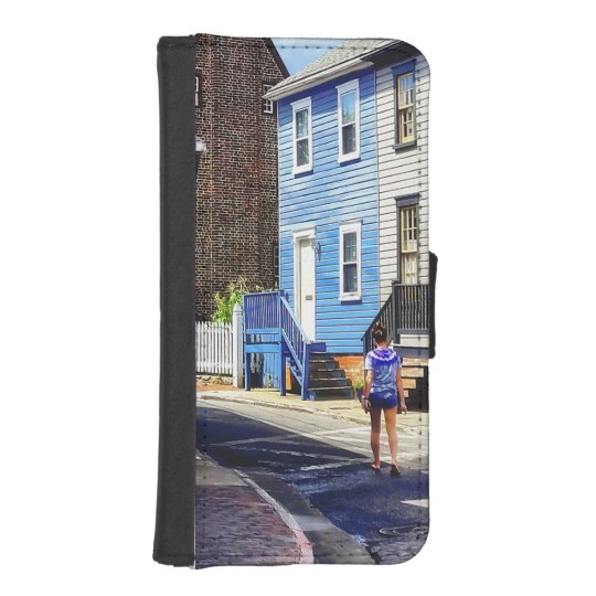 Annapolis MD - Strolling Along Pinkney Street iPhone SE/5/5s Wallet Case