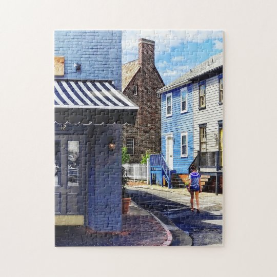 Annapolis MD - Strolling Along Pinkney Street Jigsaw Puzzle