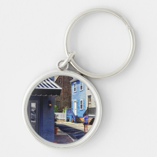 Annapolis MD - Strolling Along Pinkney Street Keychain