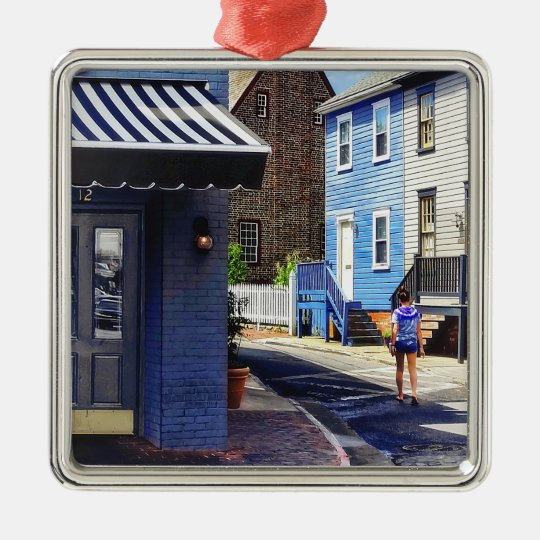 Annapolis MD - Strolling Along Pinkney Street Metal Ornament