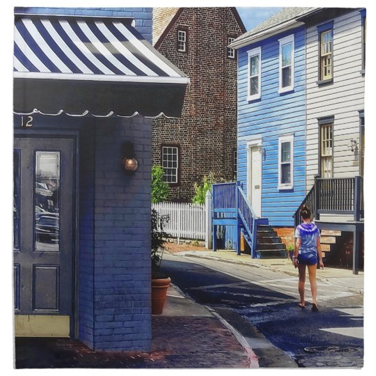 Annapolis MD - Strolling Along Pinkney Street Napkin