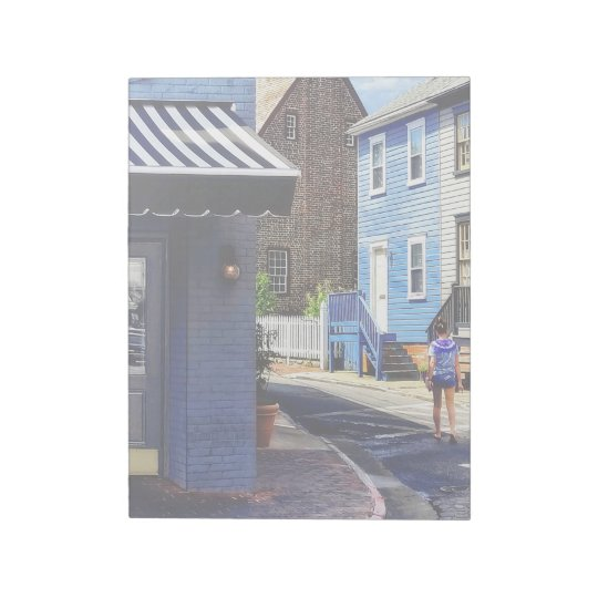 Annapolis MD - Strolling Along Pinkney Street Notepad