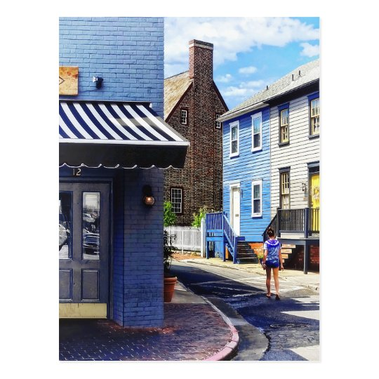 Annapolis MD - Strolling Along Pinkney Street Postcard