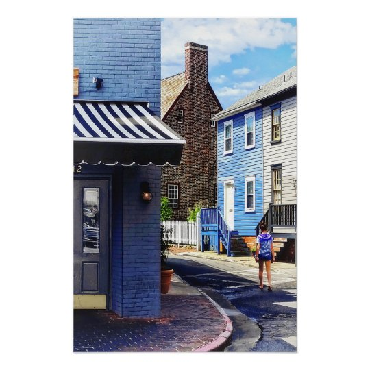 Annapolis MD - Strolling Along Pinkney Street Poster