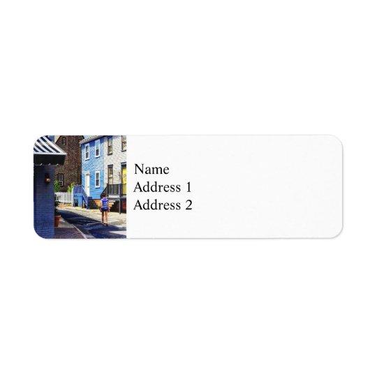 Annapolis MD - Strolling Along Pinkney Street Return Address Label