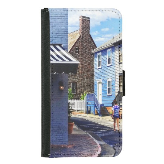 Annapolis MD - Strolling Along Pinkney Street Samsung Galaxy S5 Wallet Case