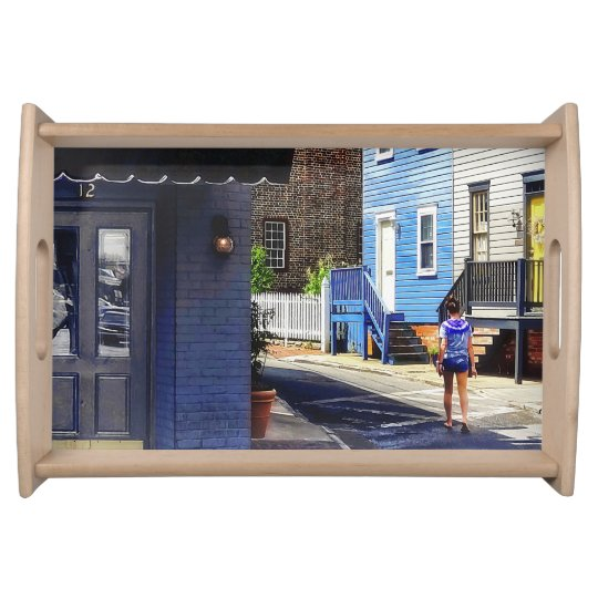Annapolis MD - Strolling Along Pinkney Street Serving Tray