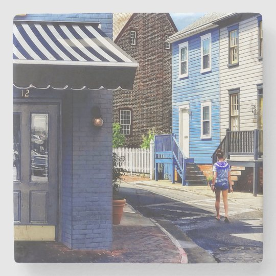 Annapolis MD - Strolling Along Pinkney Street Stone Coaster
