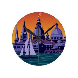 Annapolis Steeples and Cupolas: Sunset Clocks