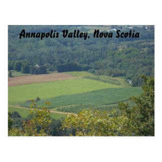 Annapolis Valley, Nova Scotia, fields and farmland Postcard