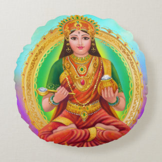 Annapoorna goddess round pillow