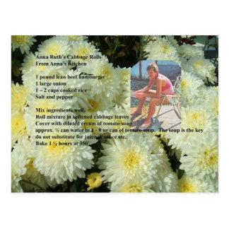 AnnaRuth's Cabbage Rolls Recipe Postcard