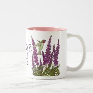 Anna's Hummingbird and Foxglove Mug