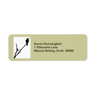 Anna's hummingbird Label Return Address Label