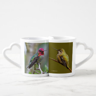 Anna's Hummingbird on the Scarlet Trumpetvine Coffee Mug Set