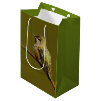Anna's Hummingbird on the Scarlet Trumpetvine Medium Gift Bag