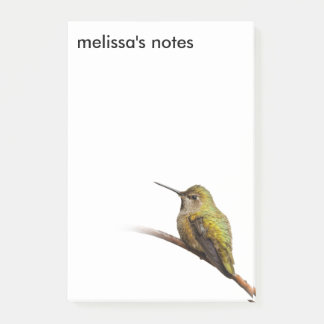 Anna's Hummingbird on the Scarlet Trumpetvine Post-it Notes