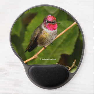 Anna's Hummingbird Shows off His Jeweled Head Gel Mouse Pad