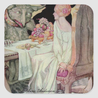 Anne Anderson Series* Beauty & the Beast Square Sticker