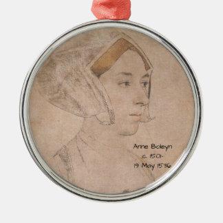 Anne_Boleyn-2 Metal Ornament