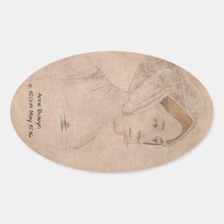 Anne_Boleyn-2 Oval Sticker