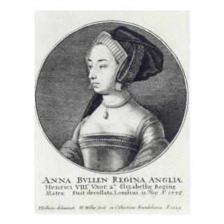 Anne Boleyn, etched by Wenceslaus Hollar, 1649 Postcard