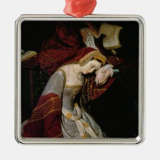 Anne Boleyn  in the Tower, detail, 1835 Metal Ornament