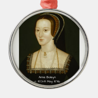 Anne Boleyn Metal Ornament