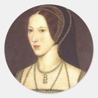 Anne Boleyn Round Sticker