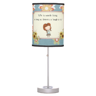 Anne Classic Literature Quote Vintage Nursery Table Lamp