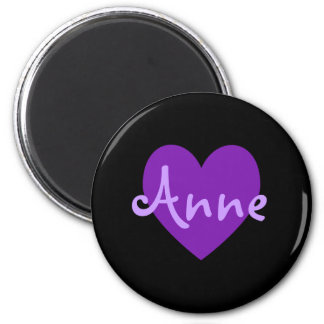Anne in Purple 2 Inch Round Magnet