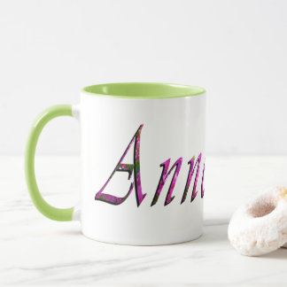 Anne, Name, Logo, Green Ringer Combo Coffee Mug