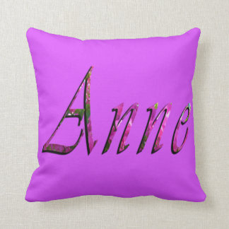 Anne, Name, Logo, Purple Lounge Throw Cushion