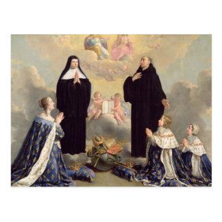 Anne of Austria  and her Children Postcard