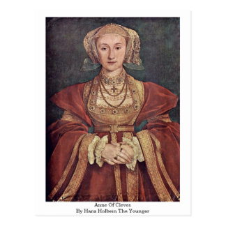 Anne Of Cleves By Hans Holbein The Younger Postcard