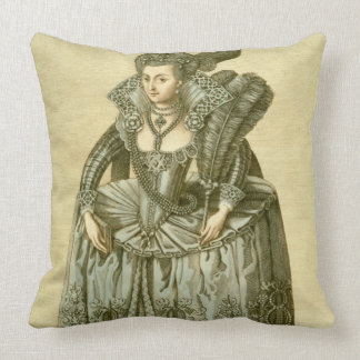 Anne of Denmark (1574-1619) wife of James I, illus Throw Pillow