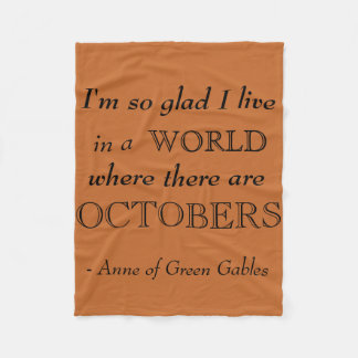Anne of Green Gables Fall Fleece Blanket
