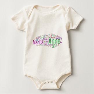 Anne of Green Gables Word Cloud Baby Bodysuit